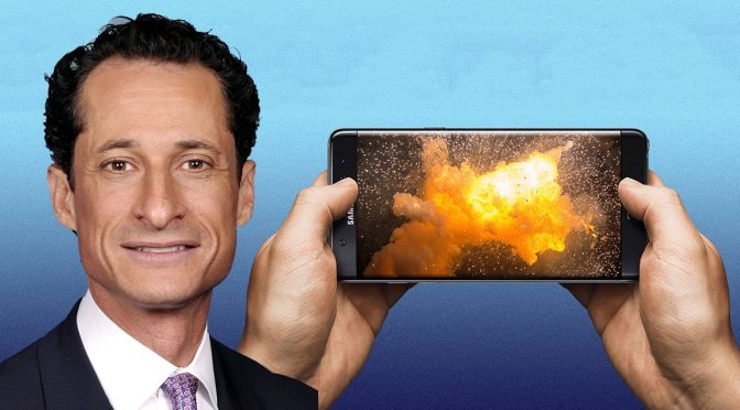 Anthony Weiner's Galaxy Note 7 Explosion Originally Ruled Malfunction Now Deemed Mercy Killing