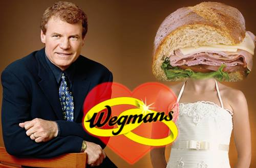 Wedding Picture of Danny Wegman and His New Wife a Danny's Favorite Wegmans Sub
