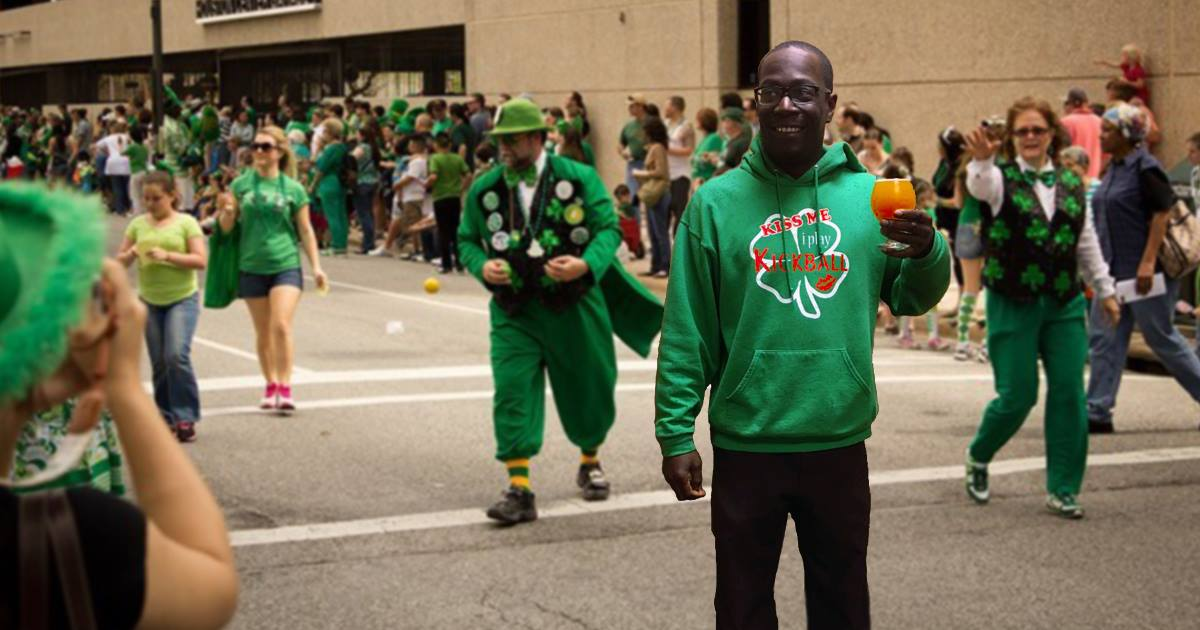 Lone Black Guy In St Patrick's Day Parade To Be Awarded For His Bravery