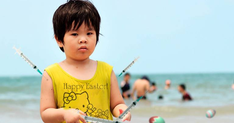 Child Finds Dirty Needle during Charlotte Beach Easter EggHunt