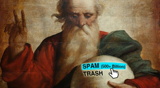 """""""My Bad"""" says GOD: Discovers Decade of Post-Shooting 'Thought & Prayers' in Spam Folder"""