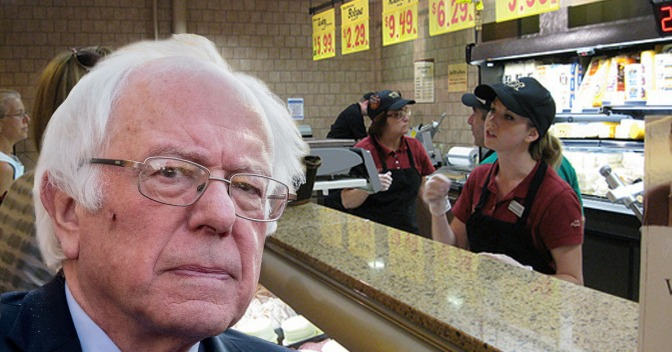 Man Complaining About Reuben At Wegmans Deli Turns Out To Be Bernie Sanders Announcing 2020 Run