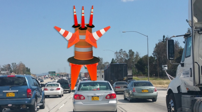 Traffic Cone Memorial Erected in Middle of West Henrietta Road