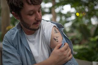 Man With 2 Bird Tattoos Excited To Go To His First Expo