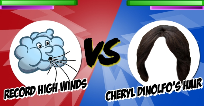 Unstoppable Force Meets Immovable Object: Record High Winds vs. Cheryl Dinolfo's Hair