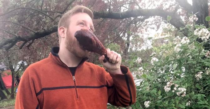 Giant Turkey Leg Makes Local Man Virtually Irresistible To Nearby Women