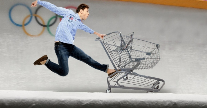Local Man Riding Shopping Cart in Wegmans Parking Lot Recruited for U.S. Olympic Bobsled Team