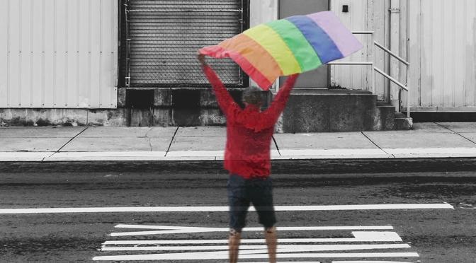 Ghost of TILT Nightclub Cage Dancer Seen Waving Pride Flag