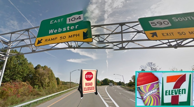 711 Truthers? 104 East Ramp Closure Outed as Way to Sell More Slurpees at 590/Empire Blvd Exit