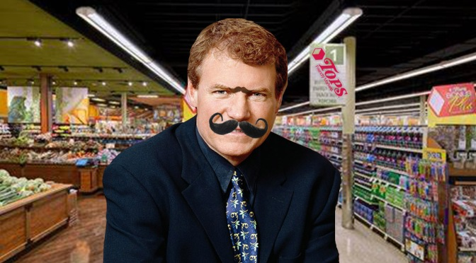 Danny Wegman Caught Shopping At Tops Wearing A Clearly Fake Mustache