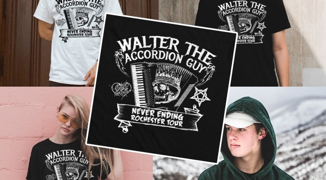 Walter The Accordion Guy Concert Shirt