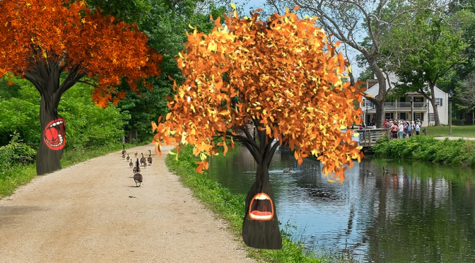 """Leaf-Peeping Walks Down Erie Canal """"Horrific"""" After Trees Evolve, Learn To Scream In Pain"""