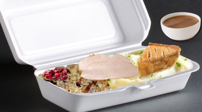 """Rochester Skips the """"Fine China"""" for Thanksgiving, Use Styrofoam Containers, Slop Things Together Instead"""