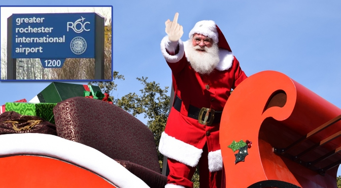 Santa Vows Never to Come Back to City After Being Forced to Land at Greater ROC International Airport
