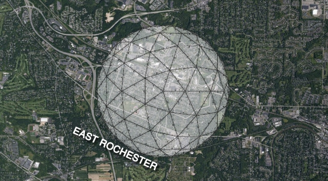Giant Dome Appears Over East Rochester