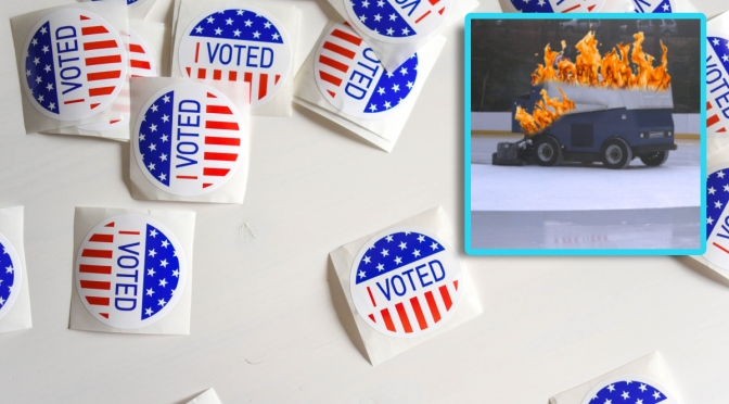 Flaming Zamboni Polling At 6% In Presidential Race