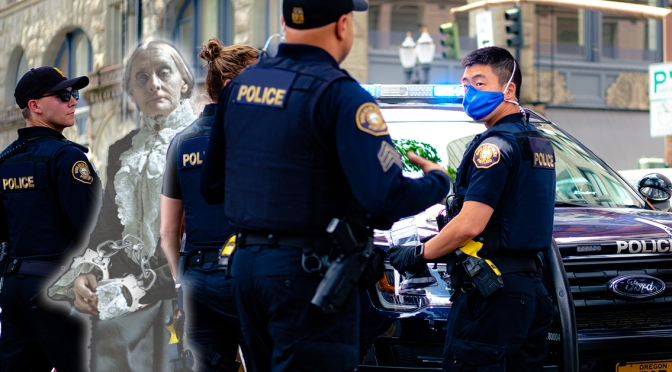 Ghost of Susan B. Anthony Arrested for Not Floating Six Feet Away in Voting Line