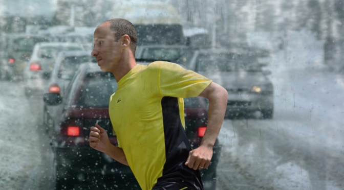 Rochester Man Certain Running in Blizzard on Busy Road Provides the Best Workout