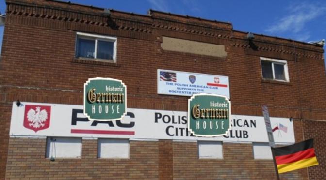 German House Invades Polish American Club